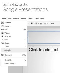How to Use Google Presentations- never a worry that you won't have a slide show