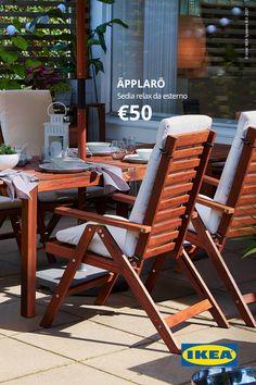 Outdoor Chairs, Outdoor Furniture Sets, Outdoor Decor, Ikea Applaro, Sweet Home, Villa, New Homes, Home And Garden, B & B
