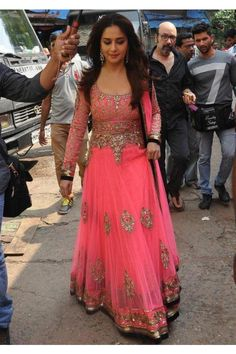 Madhuri Dixit Jhalak Dikhlaja Bollywood Replica Long Anarkali Sui#COCABURA#BETHEBEST