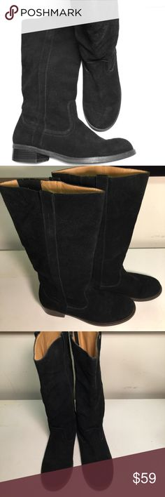 Zodiacs Rider Boots Pre-lab gently used totally adorable Zodiacs black suede wider boots Shoes Winter & Rain Boots