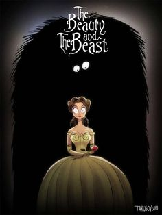 This is what Disney films would look like if Tim Burton directed .- So würden Disney-Filme aussehen, wenn Tim Burton Regie geführt hätte Beauty and the Beast: Look how Belle is startled by Burton& beast. Disney Films, Classic Disney Characters, Classic Disney Movies, Disney Movie Posters, Disney Memes, Disney And Dreamworks, Disney Shirts, Disney Cartoons, Disney Classics