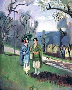 Henri Matisse (French artist, 1869-1954) Conversation under the Olive Trees