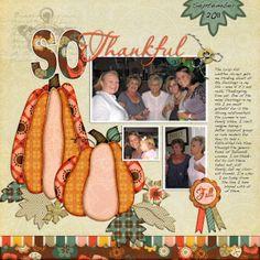 So Thankful - Scrapbook.com  Love these pumpkins!