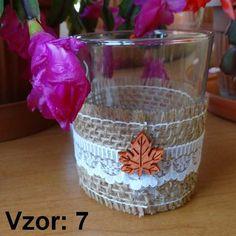 Sklenený svietnik Jarko - Sviečka - Bez sviečky, Vzor - Vzor 7