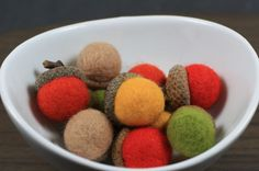 Handmade Felted Acorns for Fall Decorating by:-pabdelegance12