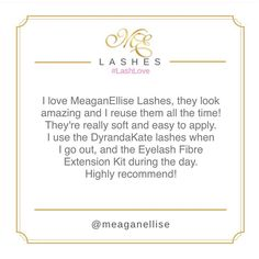 Thanks for your google review on MeaganEllise Lashes Hannah! A fresh new set of M.E lash babies are all yours as part of our monthly giveaway for M.E subscribers! 😊🙌🏼💜