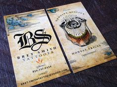 Bret Smiths' tattoo appointment / Business card by Austin Dunbar