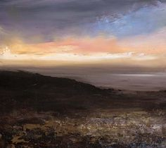 Amanda Hoskin Archive Page Collage Landscape, Abstract Landscape, Landscape Paintings, Abstract Art, Seascape Paintings, Famous Artists, Contemporary Paintings, Beautiful Paintings, Art World