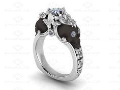 Nouveau White Diamond WhiteRose or Black by SapphireDesignStudio