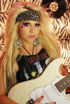 80s glam fashion | 80s Glam Makeup | Flickr - Photo Sharing! (I have to try this look once in my life...and I might become a 80's metal Hipster)