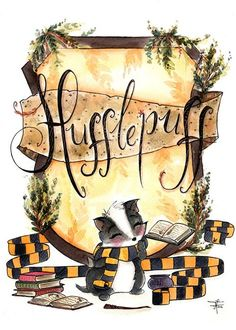 Print Hufflepuff Pride - Hogwarts Art - Fandom art print - Harry Potter Painting- Book lovers - Gifts for Booknerds by TJLubrano on Etsy Estilo Harry Potter, Cute Harry Potter, Theme Harry Potter, Mundo Harry Potter, Harry Potter Universal, Harry Potter Fandom, Harry Potter World, Harry Potter Journal, Ravenclaw