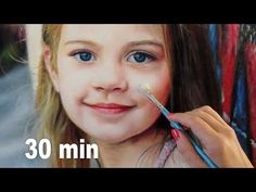 (23) REALISTIC OIL PAINTING ON WOOD DEMO - little girl / kid / baby / child portrait by Isabelle Richard - YouTube