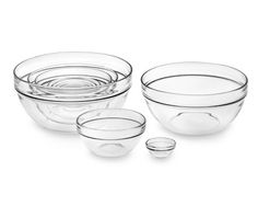 Mandatory staple in the kitchen.  10-Piece Glass Bowl Set.  Made in the USA.  #WilliamsSonoma