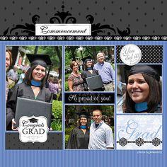 Graduation Word Art Digital Scrapbooking Layout | Flickr - Photo Sharing!