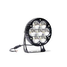 "7"" 11,000 LUMEN Ultra High Intensity Impulse LED Round Driving Light 2500' range in 7 degree true spot optics. You gotta see this."