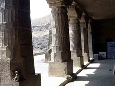 Porch of Cave 1 of the Ajanta Caves, India