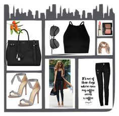 """""""sunday outfit"""" by yanick-moretta ❤ liked on Polyvore featuring Alexandre Birman, Yves Saint Laurent, Balmain, Boohoo, Burberry and Charlotte Russe"""