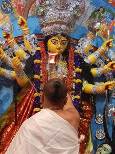 Pictures of Durga Puja on Vijaya Dashami day Durga Maa, Durga Goddess, Durga Puja Kolkata, Festival Dates, Durga Images, Vintage India, Mother Goddess, Gods And Goddesses, Ganesha