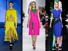 Autumn Winter 2014 Fashion Trends: The Marie Claire Catwalk Edit | WINTER BRIGHTS - Christopher Kane, Preen and Kenzo give us acid colours in every off-kilter combination imaginable...x