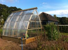 Greenhouse made of wood and PET. design by MOOST.