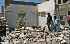 YEMEN - The death toll from a Saudi bombardment in the Yemeni capital Sana'a has risen to seven. Dozens of others were injured after a government building came under attack by Saudi fighter jets on Sunday. Public Art, Daily News, Fighter Jets, Graffiti, Street Art, Death, Community, War, United Nations