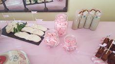 sandwiches con formas especiales baby shower. mesa decoración #babyShower niña