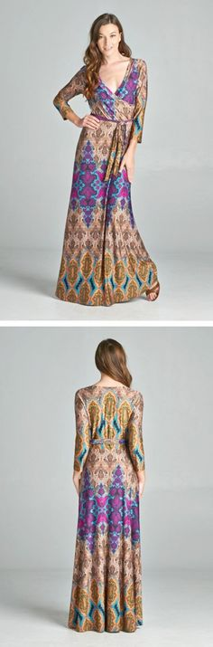 Love this maxi dress - stretchy and comfy, does't wrinkle, and the pattern is very forgiving for travel.