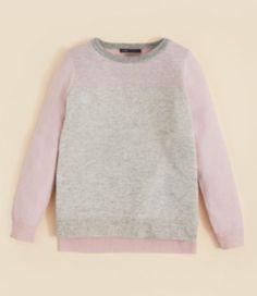 Vince Girls' Color Block Birds Eye Stitch Sweater Size L $198 | eBay