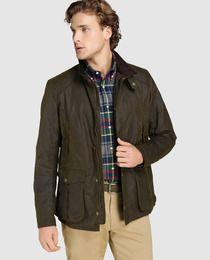 c38db03b6080 Chaqueta de abrigo de hombre Barbour encerada verde | jackets | Moda ...
