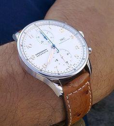 IWC chronograph ++ ostrich. Strap. Fashiz | Mode Masculine