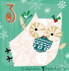 Ric-Rac: Dec 3rd : ) Ric-Rac: Dec 1st : ) Chrismas, owl, cutie christmas, cute animal