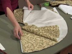 Create a Christmas tree skirt