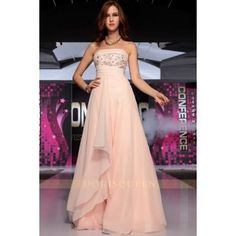 DORISQUEEN drop shipping 2013 fashion beading bust+ wide waist simple light pink dinner dresses 30735
