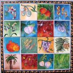 Hand painted tiles by Monica tiles. Seven spices - 4 tiles. Painted Tiles, Hand Painted, Spices, Flowers, Painting, Art, Art Background, Spice, Painting Art