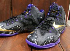 Nike LeBron 11 BHM Anthracite Metallic Gold Purple Venom