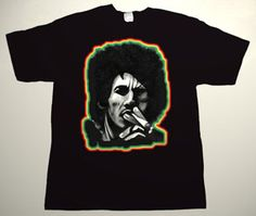 BOB MARLEY drawing 6 DELUXE ART CUSTOM T-SHIRT     Each T-shirt is individually hand-painted, a true and unique work of art indeed!  To order this, or design your own custom T-shirt, please contact us at info@collectorware.com, or visit  http://www.collectorware.com/tees-bob_marley.htm