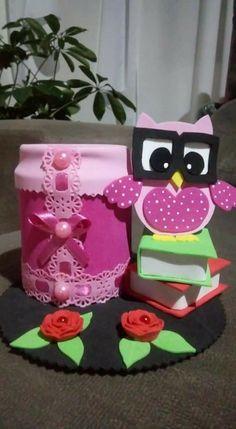 Porta lápis por Tin Can Crafts, Foam Crafts, Diy And Crafts, Diy For Kids, Crafts For Kids, Birthday Cards, Birthday Gifts, Cartoon Photo, Rose Art