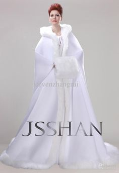 Wholesale New Style Actual Image Winter Long Sleeves Wedding Dresses Hooded Winter Cape Coat Bridal Gowns, Free shipping, $196.0-227.91/Piece | DHgate