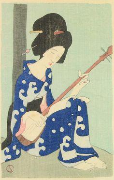 """Takehisa Yumeji, 1915, """"Samisen-kusa"""" (Shamisen Leaves), book of poetry. (73)"""