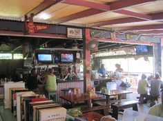 """Skinny Legs Bar in Coral Bay ....""""A Pretty OK Place""""! Not exactly gourmet but they have a heck of a Greek salad."""