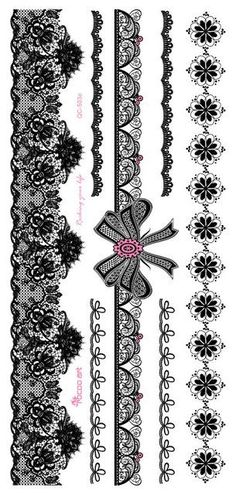 1piece white black henna tattoo Sexy Lace Stocking Arabic Indian rose butterfly Bow flash wedding art paint on hand arm leg