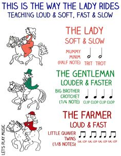 This is the Way the Lady Rides, the lively knee bobbing song for babies and toddlers - always a favourite and guaranteed to encourage giggles. Kindergarten Music, Preschool Music, Music Activities, Children Activities, Infant Activities, Preschool Activities, Farm Lessons, Music Lessons, Piano Lessons