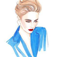 #fashion #illustration #portrait #fashionillustration #style #fashionart #fashionillustrator #lenaker #artwork #watercolor