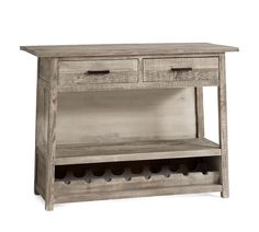 Bartol Reclaimed Wood Bar Buffet with Wine Rack, Cinder Gray Reclaimed Wood Bars, Reclaimed Wood Dining Table, Buffet With Wine Rack, Wine Rack Table, Hm Deco, Office Storage Furniture, Wood Buffet, Wine Glass Rack, Small Space Solutions