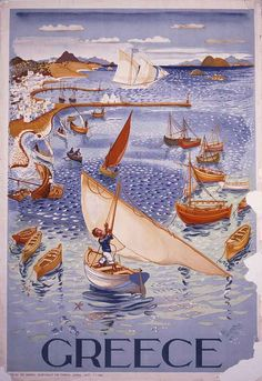 Greek Tourism Poster - 1947 by patsystone70, via Flickr