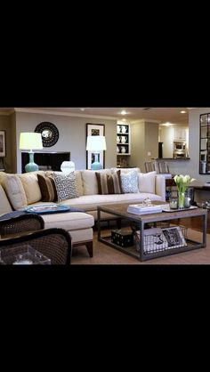 love the coffee table with wire baskets below