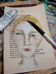 paint faces using oil pastels, watercolors, and white gouache | lynne hoppe