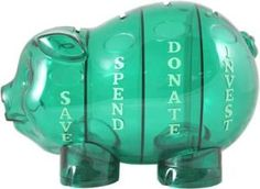 yes it think I will save spend donate and invest with this little piggy