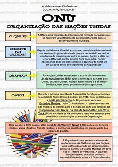 ENTENDEU DIREITO OU QUER QUE DESENHE ???: ONU - ORGANIZAÇÃO DAS NAÇÕES UNIDAS