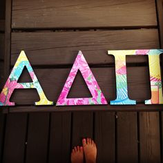 wooden letters! #LillyPulitzer #modpodge #crafting but I obviously want theta phi alpha 1. heritage floral 2. hottypink first impression 3. however you slice it (but I'd like you gotta regatta if i can't find that one)